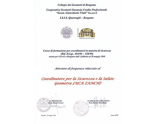 Coordinatori per la Sicurezza nei Cantieri D.Lgs. 81/08
