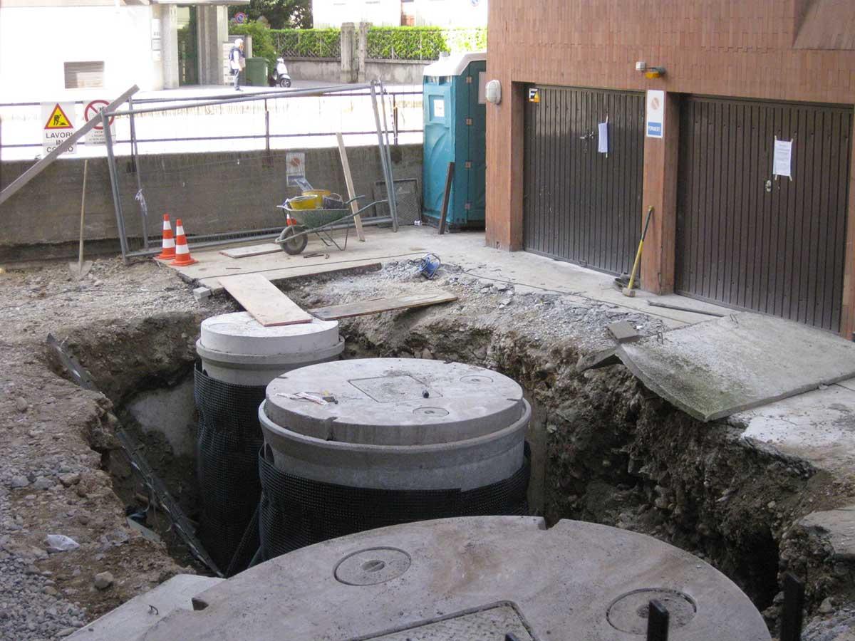 Rifacimento completo di impianto fognario condominiale