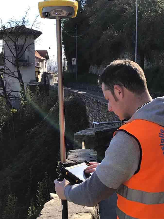 Rilievo GPS in Città Alta Bergamo