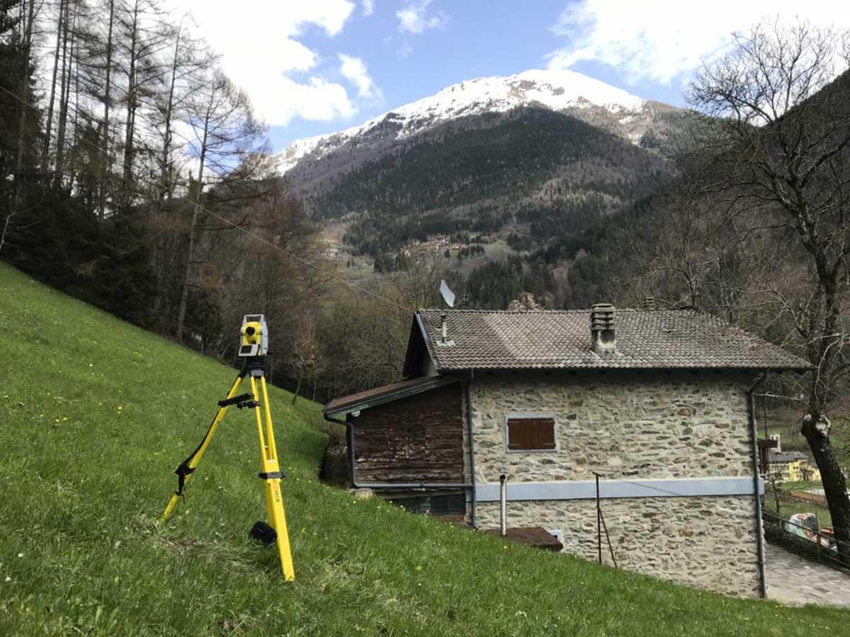 Rilievo plano-altimetrico terreno e cascina
